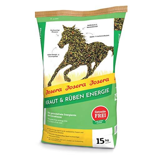 JOSERA Kraut & Rüben Energy (1 x 15 kg) | Premium Pferdefutter - Energiemix der Extraklasse | getreidefreie Rezeptur | effizienter Muskelaufbau| 1er Pack