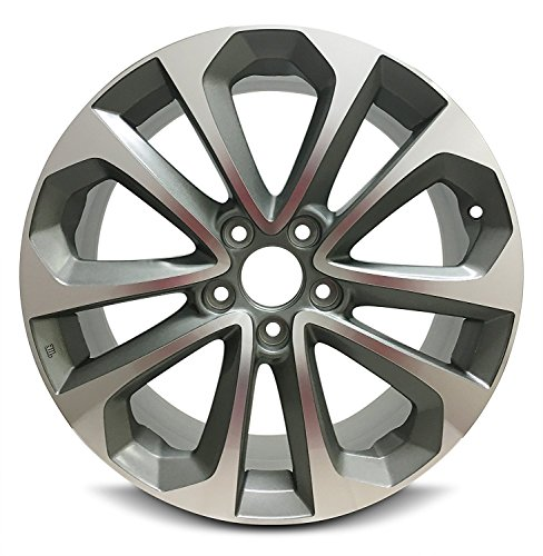 Road-Ready-Car-Wheel-For-2013-2015-Honda-Accord-18-Inch-5-Lug-Gray-Aluminum-Rim-Fits-R18-Tire-Exact-OEM-Replacement-Full-Size-Spare