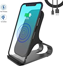 WGGOU Qi-Certified Wireless Charger, 7.5W Compatible iPhone Xs Max/XR/XS/X/8/8 Plus, 10W Fast-Charging Galaxy Note 10/S10/S10+/S10E, 5W All Qi-Enabled Phones(No AC Adapter)