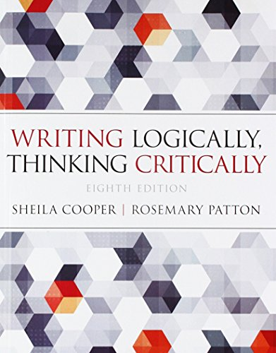 Writing Logically Thinking Critically; Pearson Writer -- Standalone Access Card, Writer -- 12 Month Access (8th Edition)