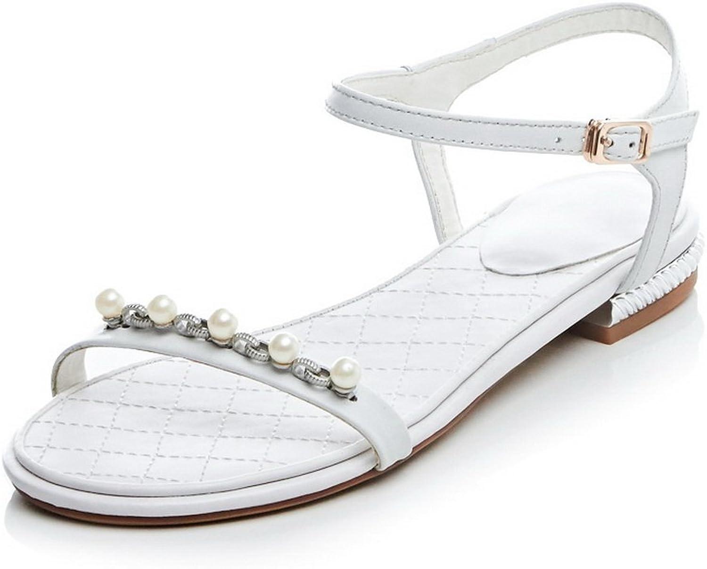 AdeeSu Womens Rhinestones Romanesque Style Leather Sandals