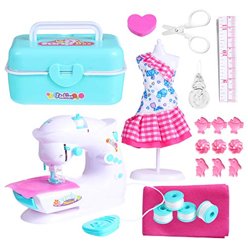 TOYANDONA Mini Portable Enfants Machine à Coudre Électrique Couture Style Artisanat Kit Jouets Éducatif Intéressant Jouet pour Enfants Filles Enfants S
