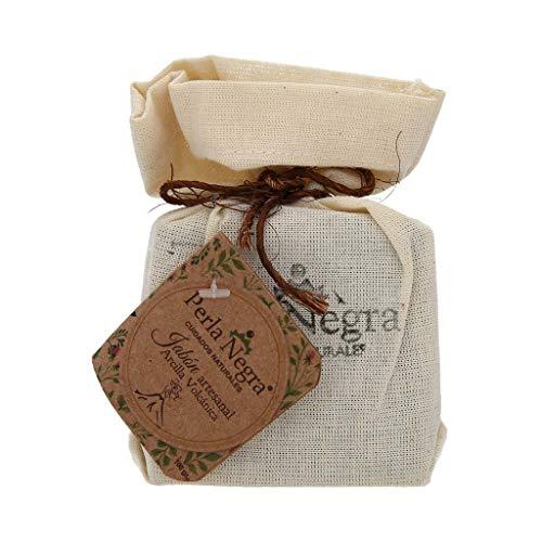 Perla Negra. Jabón artesanal de arcilla volcánica que ayuda a revitalizar la piel. 100 gr