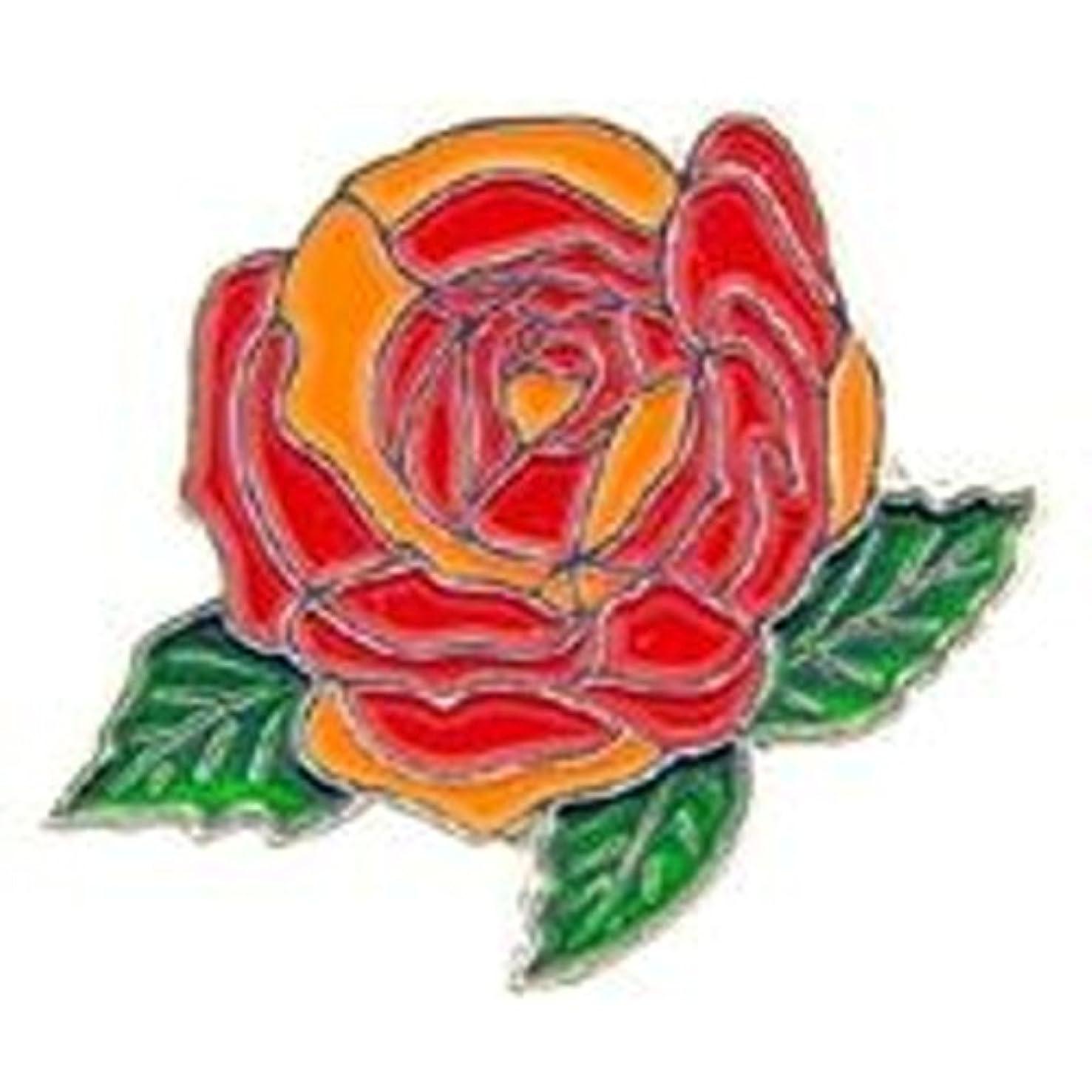 EagleEmblems P05403 PIN-Plant,Rose,RED (1'')