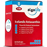 Algalife Pure Astaxanthin - Support Joint Pain & Eye Health, Made From Natural Icelandic Water, Super Powerful Antioxidant, 12 mg, 60 Soft Gels.