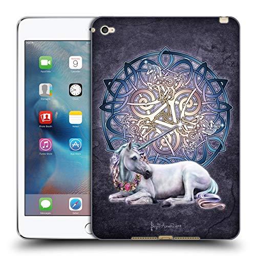 Head Case Designs Officially Licensed Brigid Ashwood Unicorn Celtic Soft Gel Case Compatible with Apple iPad Mini 4