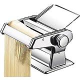 Mzxun Pasta delicada fabricante de los tallarines fabricante de los hogares Manual de prensa de planchar máquina multifuncional Pequeño inoxidable laminado de acero de corte (Color: Plata, Tamaño: 21x