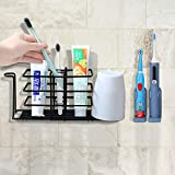 Toothbrush Holder Wall-Mounted, Stainless Steel Toothpaste Holder...