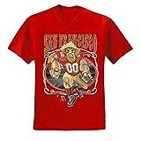 San Francisco Fan | SF Fantasy Football | Mens Sports Graphic T-Shirt, Red, Large