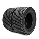 TRIBLE SIX Set of 2 Tubeless Turf Tires 24x12-12 Lawn & Garden Mower Tractor Cart Tires 6 Ply Tubeless Tire...