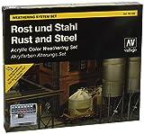 Vallejo 070150 Farbset, Rost und Stahl, 8 x 17 ml -