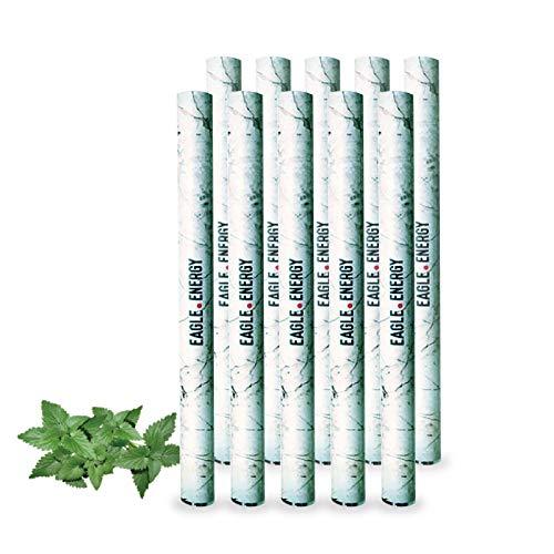 Eagle Energy イーグルエナジー 吸引型カフェイン 使い切り吸引型エナジードリンク (ブルーベリースーパーミント, 10本)