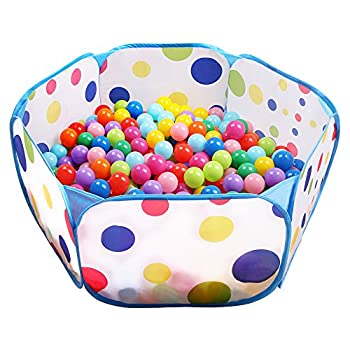 EocuSun Kids Ball Pit Large Pop Up Toddler Ball Pits Tent for Toddlers Girls Boys for Indoor Outdoor Baby Playpen w/ Zipper Storage Bag Balls Not Included  Blue