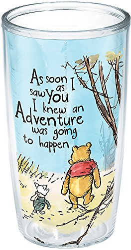 Tervis Disney Winnie the Pooh Adventure Isolierbecher mit Wickeltuch, 473 ml, transparent