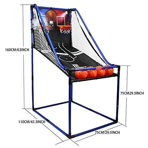 WENZHE Redes Aros Canasta De Baloncesto Tableros Portátiles De Baloncesto Al Aire Libre Niño Puntuación Automática Maquina De Tiro Estilo Simple/Doble (Color : A)