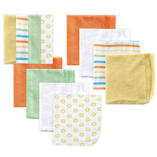 Luvable Friends Unisex Baby Cotton Rich Washcloths Pack $9.76 (30% Off)