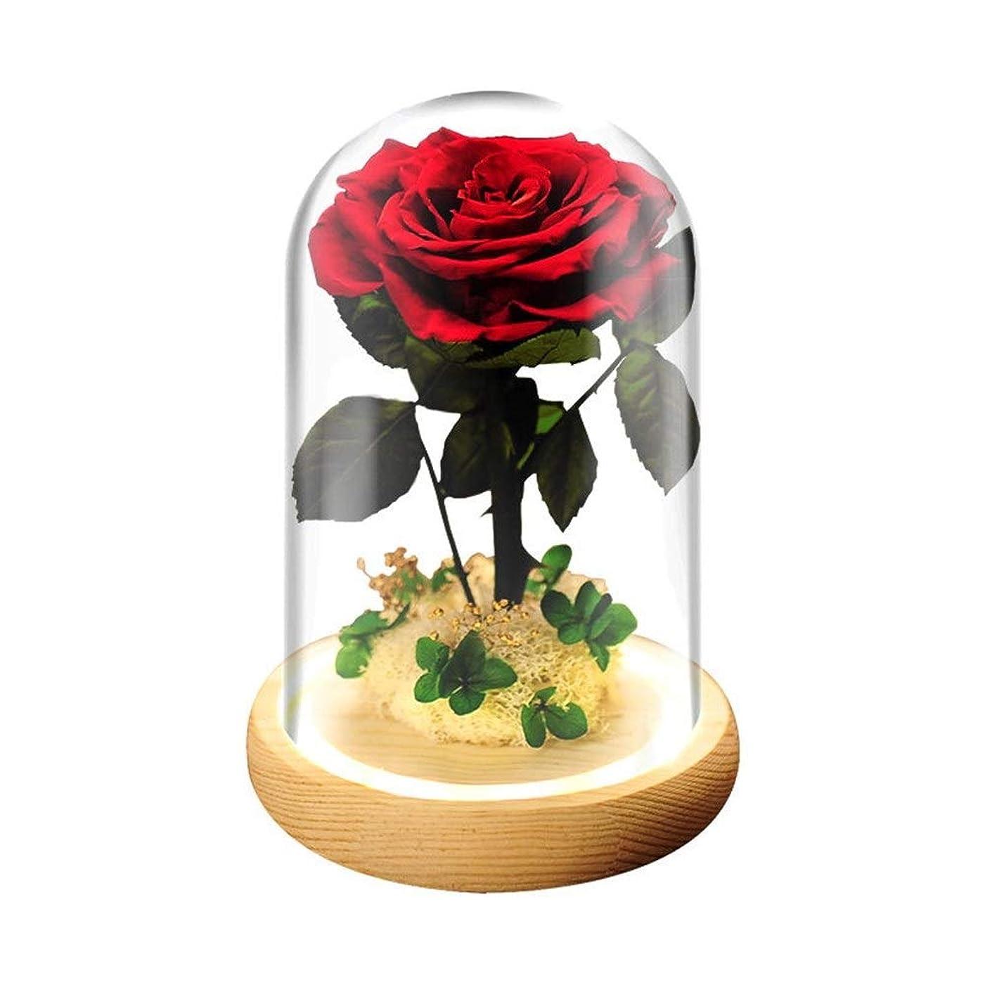 制限する状取る美女と野獣バラ、マジックローズ、手作りのガールフレンドのための花、バレンタインデー、母の日、誕生日プレゼント、クリスマス、ギフトラスティングパーフェクトシルクローズやガラス、花バラ、ロングを作成します