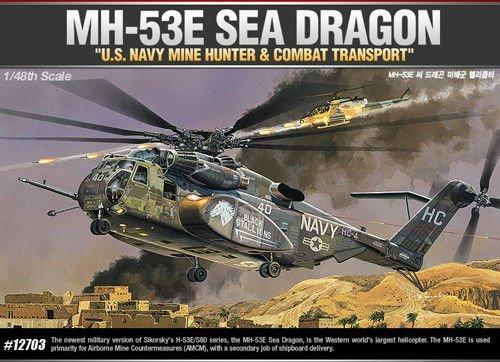 Academy 1/48 Scale Model kit 1/48 MH-53E SEA Dragon 12703