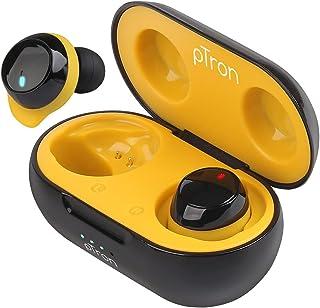 PTron Bassbuds Evo Truly Wireless Bluetooth in Ear Earphone with Mic (Black & Yellow)