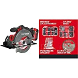 CRAFTSMAN V20 6-1/2-Inch Cordless Circular Saw Kit with 96PC MASTER SET (CMCS500M1AM & CMA123AMQ4)