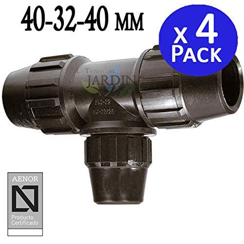 Pack 4 x TE 40-32-40 MM POLIETILENO. Producto con certificado AENOR utilizado en tuberías PE 40 mm 1 1/4