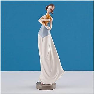 OMING Estatua de Mesa Adornos de Gama Alta nórdica Elegante de la Diosa de luz Práctica Sala de Estar Creativa del hogar d...