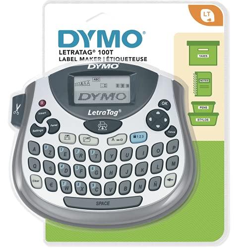 Dymo S0758360AZY - Teclado AZERTY para impresoras de etiquetas Letratag LT100T, color gris y plata