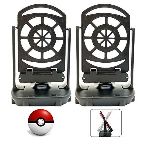 (Paquet de 2)Compteur de pas compatible avec Pokémon Go Walker, accessoires de téléphone portable, podomètre, câble USB, sourdine automatique, éclosion d'œufs, prise en charge de 4 téléphones, noir