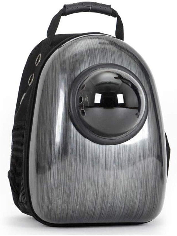 FJH Cat Bag Pet Out Bag Cat Bag Out Cat Backpack Space Pet Cabin Bag Carrying Bag Space Bag Cat Supplies (color   Black)
