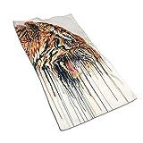 Opiadco Toallas de Mano de Fibra extrafina con Pintura de Tigre Abstracto Toalla de Playa Ultra Suave Toalla de baño para Piscina para niños, n