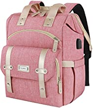 Laptop Backpack for Women,RFID Anti Theft Work Backpack for 15.6 Inch Laptop,Wide Open Large USB Charging Port Water Resistant Durable Backpack, Doctor Teacher College School Travel Shoulder Purse Bag