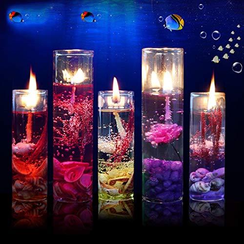 sjzwt Velas Aromáticas 1 a 10 Piezas de Fragancia de Color de Vela Vela sin Humo Oceano Jalea Jalea Aceite Esencial Boda día de San valentín Navidad (Color : 10pcs)