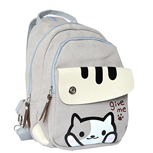 Anime Neko Atsume Multifunctional Shoulder Bag Knapsack Japanese Game Cat Backpack (#1)