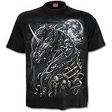 Dark unicorn - T-shirt dark fantasy - Spiral homme-L