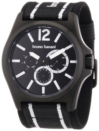 Bruno Banani Herren-Armbanduhr XL Teris Analog Nylon BR21029