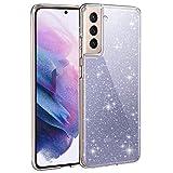 AROYI Cover Compatibile con Samsung Galaxy S21 Plus 5G Custodia Glitter Flessibile TPU Silicone...