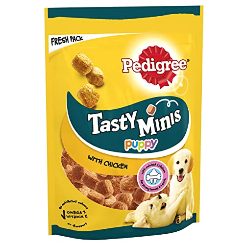 Pedigree Tasty Minis - Puppy Treats, Chewy Cubes with Chicken, Pack of 8 x...
