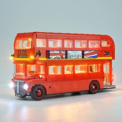 Hima Juego de luces LED para Lego 10258, juego de luces Lego para mampostería, compatible con el modelo de autobús de Londres, sin el modelo Lego.