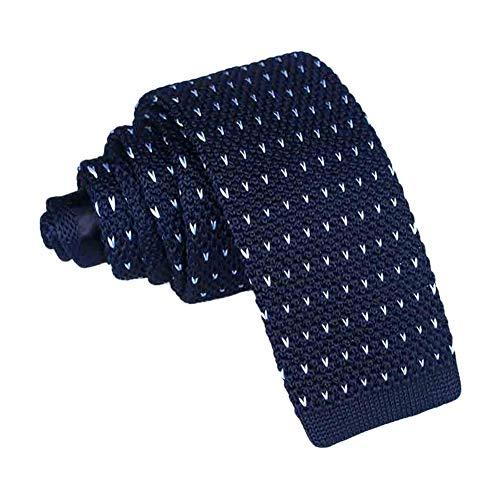 JUNGEN Corbata de Punto para Hombres Mujer Corbata Estampada con Patrón de corazón Corbata Estrecha Corbata Informal Accesorios de Ropa Size 145 * 5.5cm (Azul 2)