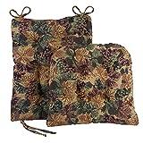 Klear Vu The Gripper Non Slip Rocking Chair Seat and Seatback Cushion Set, 17' x 17' x 3', Cabernet