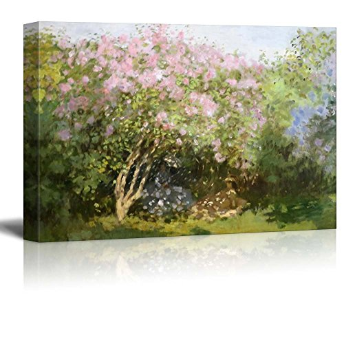 wall26 - Lilacs in The Sun by Claude Monet - Impressionist Modern Art -