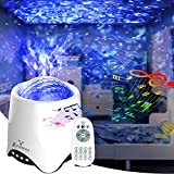 Bluetooth Star Projector with Voice/Remote Control, E-POWIND Multi-Mode Music Speaker Ocean Star Night Light Projector, USB Powered LED Galaxy Projector for Kids&Adults, Bedroom&Party, Christmas Gift