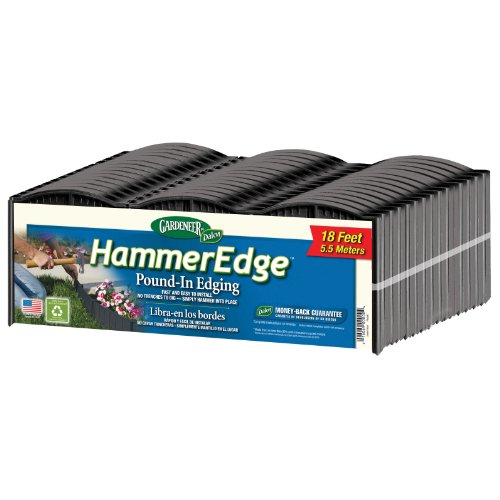 Gardeneer by Dalen HammerEdge Pound in Edging - 16 and Durable Interlocking Pieces -18 feet of Coverage - Durable and Easy to Install.