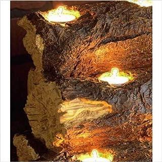 """اسعار SEI Southern Enterprises Resin Tealight 24"""" Fireplace Log, Faux Rustic Wood Finish"""
