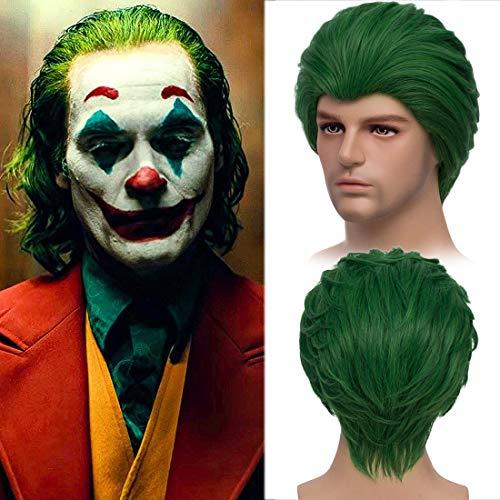 MildisoPerücke Grün Kurze haar Männer Für Joker Cosplay Perücken karneval fasching Kostümparty Halloween Clown wig 040