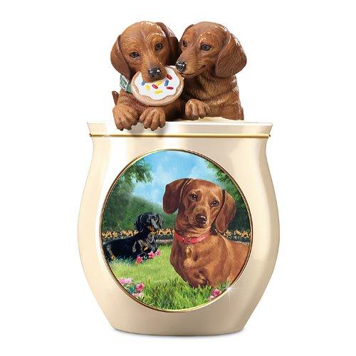 Cookie Jar: Cookie Capers: The Dachshund Cookie Jar by The Bradford Exchange
