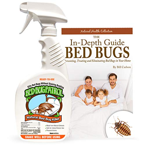 Bed Bug Patrol Bed Bug Killer Spray Treatment, 24oz Kills Bed Bugs on Contact with Residual Protection, Natural & Non-Toxic, Child & Pet Safe. Recommended for Home, Mattresses & Furniture.