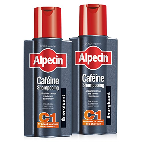 Alpecin Champú Cafeína C1, 2 x 250 ml – champú anticaída