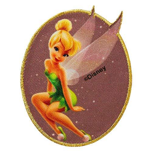 Disney Tinkerbell Peter Pan Hada El pas de Nunca Jams - Parches termoadhesivos bordados aplique para ropa, tamao: 8,2 x 6,9 cm