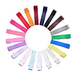 Best Barrettes For Toddlers - KOONY Toddler Baby Hair Clips Grosgrain Ribbon Lined Review